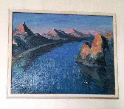 """картина """"Река в синем"""""""