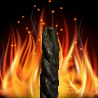 скрутка из черных свечей