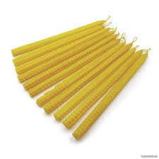 Свечи из желтой вощины