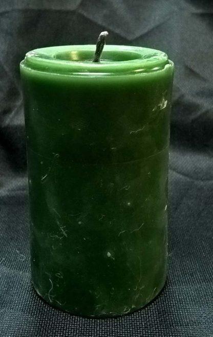 Свеча зеленая восковая