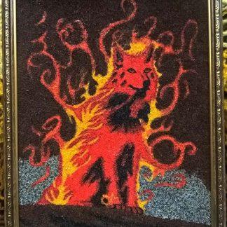 """Картина """"Огненный волк"""""""