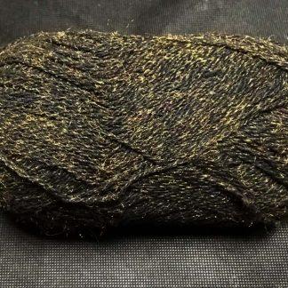 Пряжа полушерсть золотисто-черная