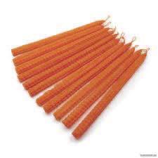 Свечи оранжевые из вощины