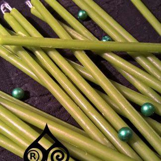 Свечи салатно-зеленые mini