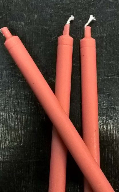 Свечи розовые из воска