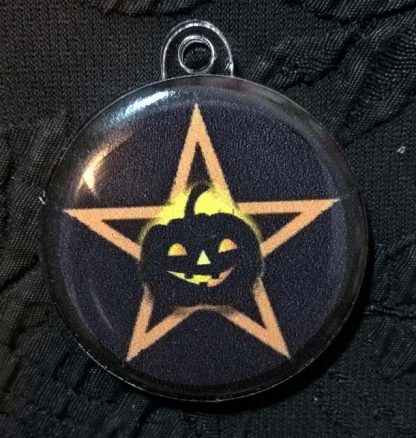 """Талисман """"Пентаграмма Хэллоуин"""" (оранжевая)"""